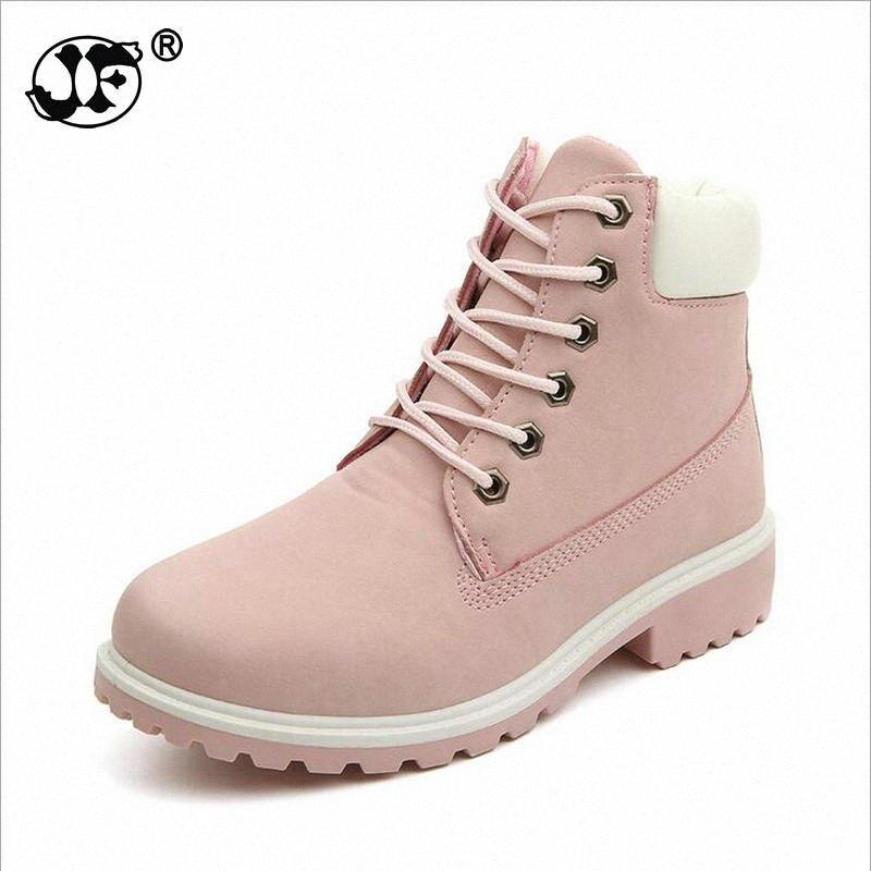 Новая осень Ранняя зима обувь Женщины Плоский каблук ботинки женщин способа Boots женщина голеностопного Botas Hard Подошва 2zHp #