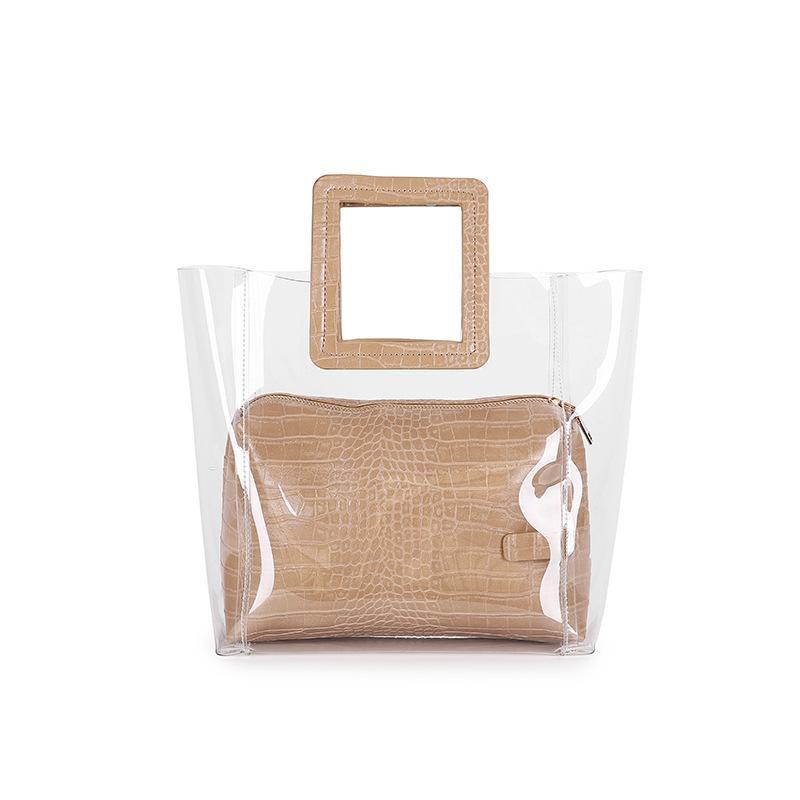 Designer- nuevo lujo empaqueta los bolsos del diseñador de las mujeres manera de las señoras bolso transparente de PVC bolsa de cuero de la PU Mujer Sac principal Bolsas Femenina