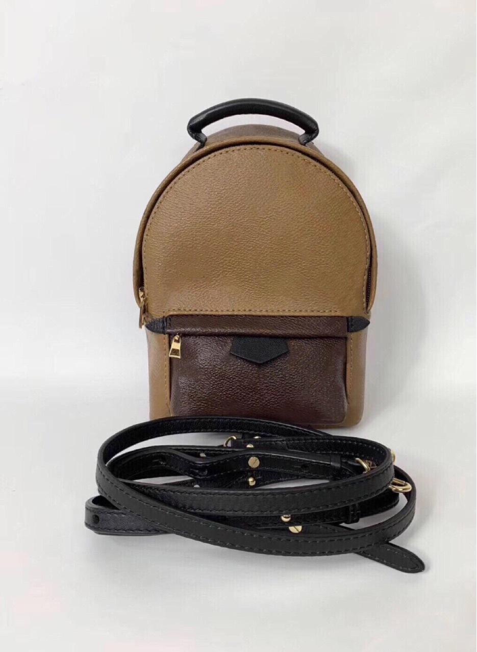 Progettista di marca all'ingrosso Nuove donne Springs Palm Springs Mini Zaino Bambini Backpacks Donne Stampa di PU Leather Mini School Bags 11ap2