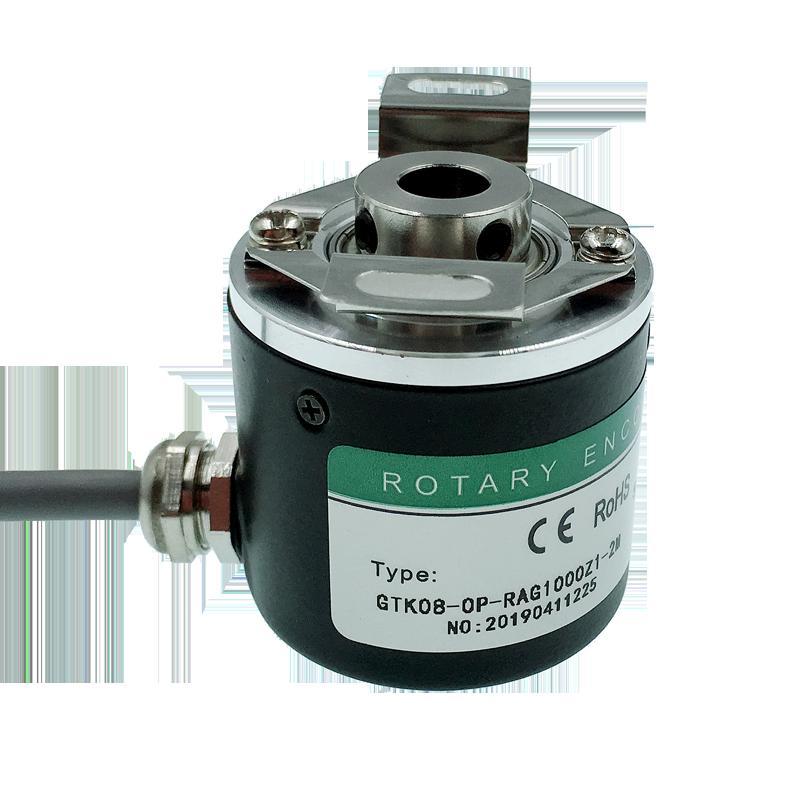 Hollow shaft photoelectric rotary encoder ZKP3808 600 pulse 600 line/2500 pulse 2500 line ABZ three-phase 5-24V