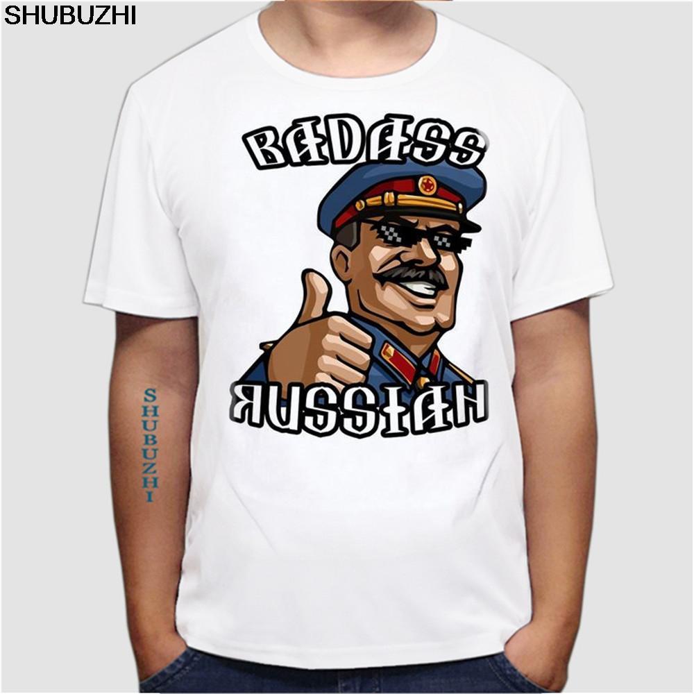 New Casual T Shirt Men Russian T-Shirts Putin Stalin WW2 Military Specnaz VDV Polite People USSR Tee shirt euro size