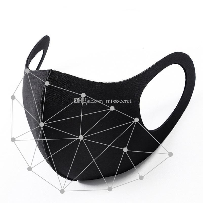 Projeto de proteção na máscara protectora Stock confortável Soft Cover Respirar Máscaras unisex fresca de verão