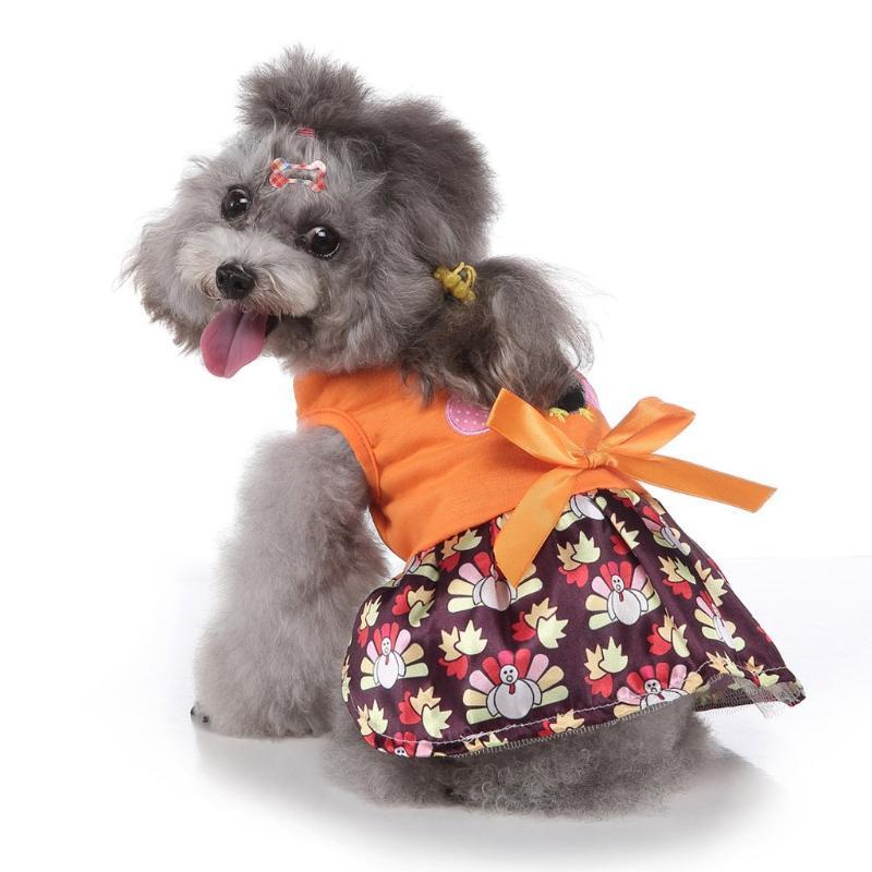 2020 Bowknot جديد الكلب التنورة الحيوانات الأليفة القماش اللباس عيد الميلاد لطيف تنفس الكلب الملابس للشركات الصغيرة المتوسطة الكلاب زي # 0812Y30