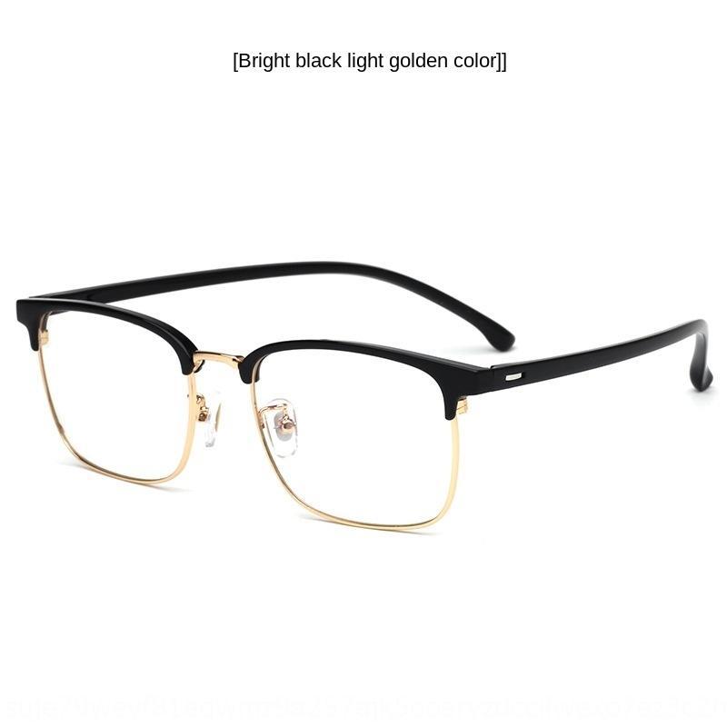 WqYuU 2019 New TR90 sobrancelha Miopia de metal meia kickwith miopia óculos moldura quadrada negócio dos homens óculos de armação