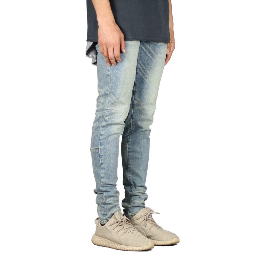 Homens Moda estiramento projeto jeans skinny