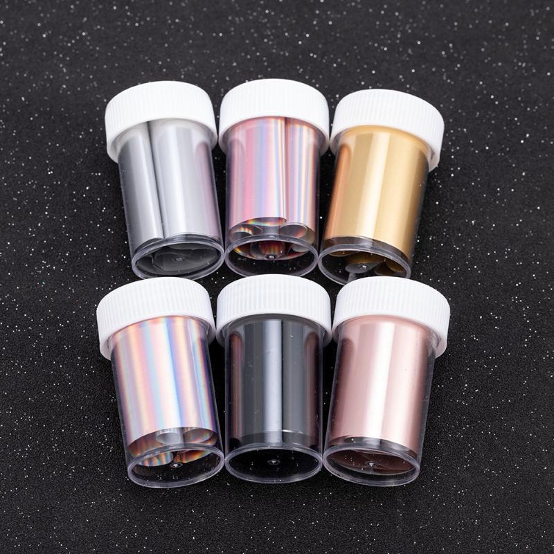 Çıkartmalar Çıkartmaları Gül Altın Lazer Menekşe Tırnak Folyo Gümüş Holografik Manikür Sanat Transferi Çıkartması DIY Kişilik Sticker Dekorasyon