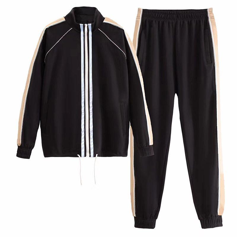 Yeni varış erkek eşofman eşofman kaliteli mektup model baskı parça eşofman erkek ceketler XS-3XL spor giyim womens