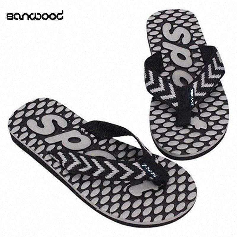 New Trendy Mens Summer Sport Dot Print Indoor Slippers Outdoor Flip Flops Beach Sandals RUqv#