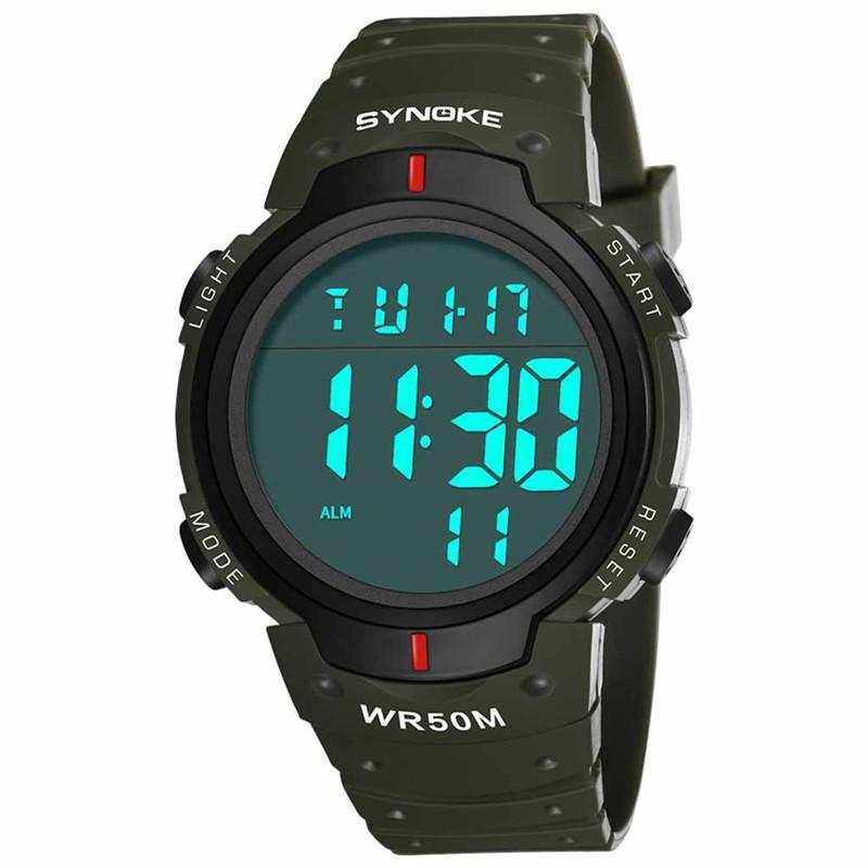 reloj de la aptitud del hombre del reloj del reloj para hombre relojes electrónicos al aire libre para practicar diversos deportes pantalla Function Trend hombres de la moda