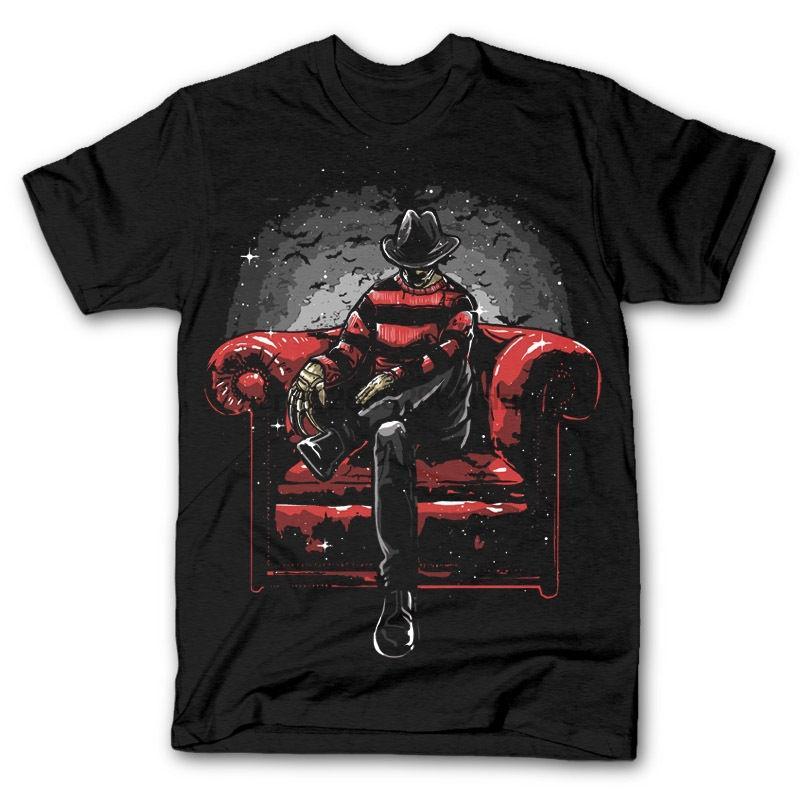 Yeni KABUS YAN kanepe ELM STREET FREDDY Mashup dtg erkek t shirt tee 2020 2020 moda t shirt% 100 pamuk tişört