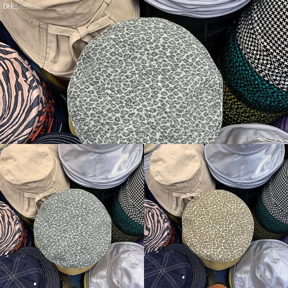 bdXhb de lana mujeres se sintieron grano interior del gángster del sombrero flexible leopardo Fedora sombrero con ala ancha de la boina del casquillo del jazz padrino