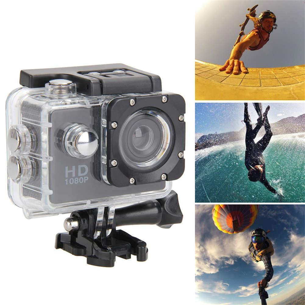1080P Action Camera Ultra HD Underwater Outdoor Mini Sport Camera Waterproof Cam Screen Color Water Resistant Video Surveillance