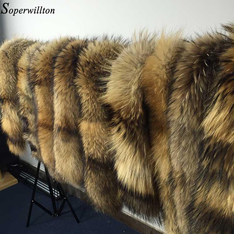 새로운 2020 겨울 100 % 너구리 모피 진짜 천연 모피 칼라 여자 스카프 패션 코트 스웨터 스카프 칼라 럭셔리 넥 캡 D88