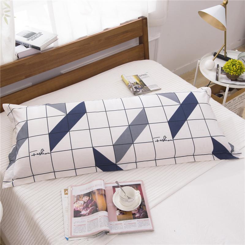 48x120cm / 48x150 / 48x180ccm Coton Sergé simple Couple Taie Fleur décorative longue Oreillers Case lit sommeil Taie d'oreiller # / L Taie