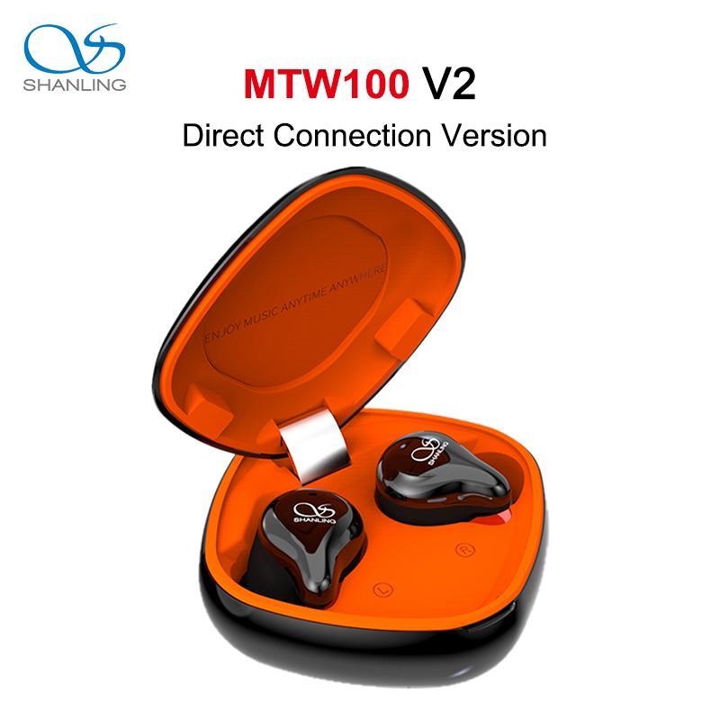 Shanling MTW100 V2 Direct Connect Bluetooth 5.0 In-Ohr Kopfhörer Knowles BA / Graphene dynamischen Treiber AAC / SBC IPX7 wasserdicht