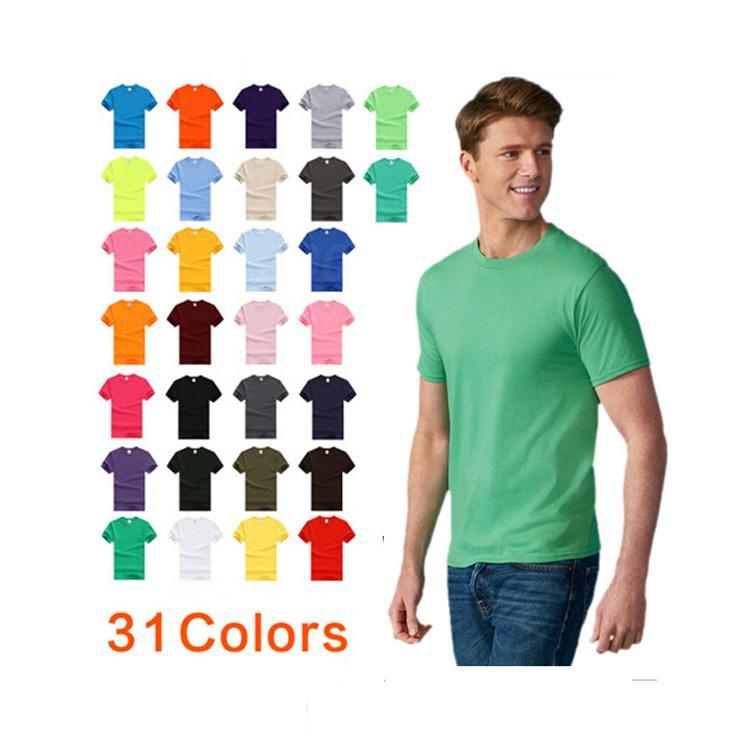 2020 100% cotone abbigliamento di base personalizzato stampa oem logo uomini della maglietta vuoto pianura