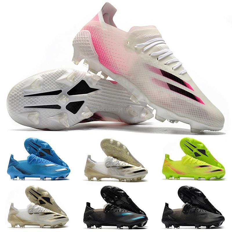 Yeni Ghosted.1 FG Uçuş Beyaz Çekirdek Siyah Metalik Altın MelangeX20.1 pembe futbol Boots 39-45 de futbol ayakkabıları futbol koç boynuzu mens krampon