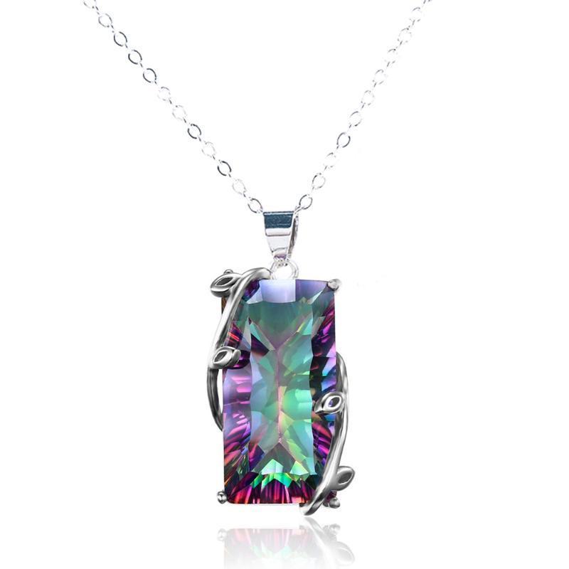 2020 joyería nuevas mujeres forman Arco Iris Del cadena de 24 pulgadas Partido Collar Gargantilla de baile collares de moda Wholesasle