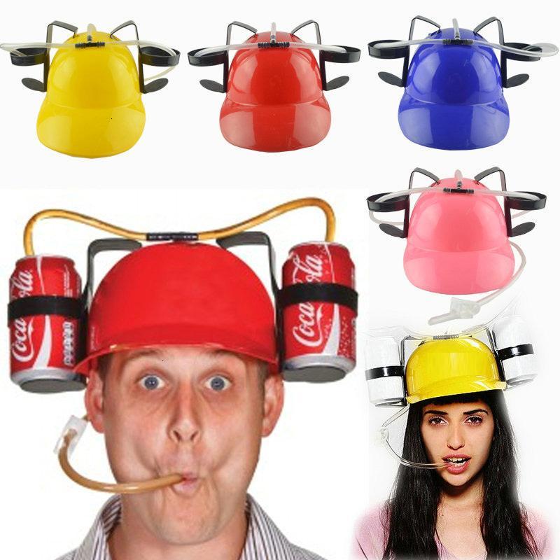 Pigro salone della birra Soda Guzzler Casco Alcol festa di compleanno unico freddo vivavoce Bevi giocattolo Cappello Miner