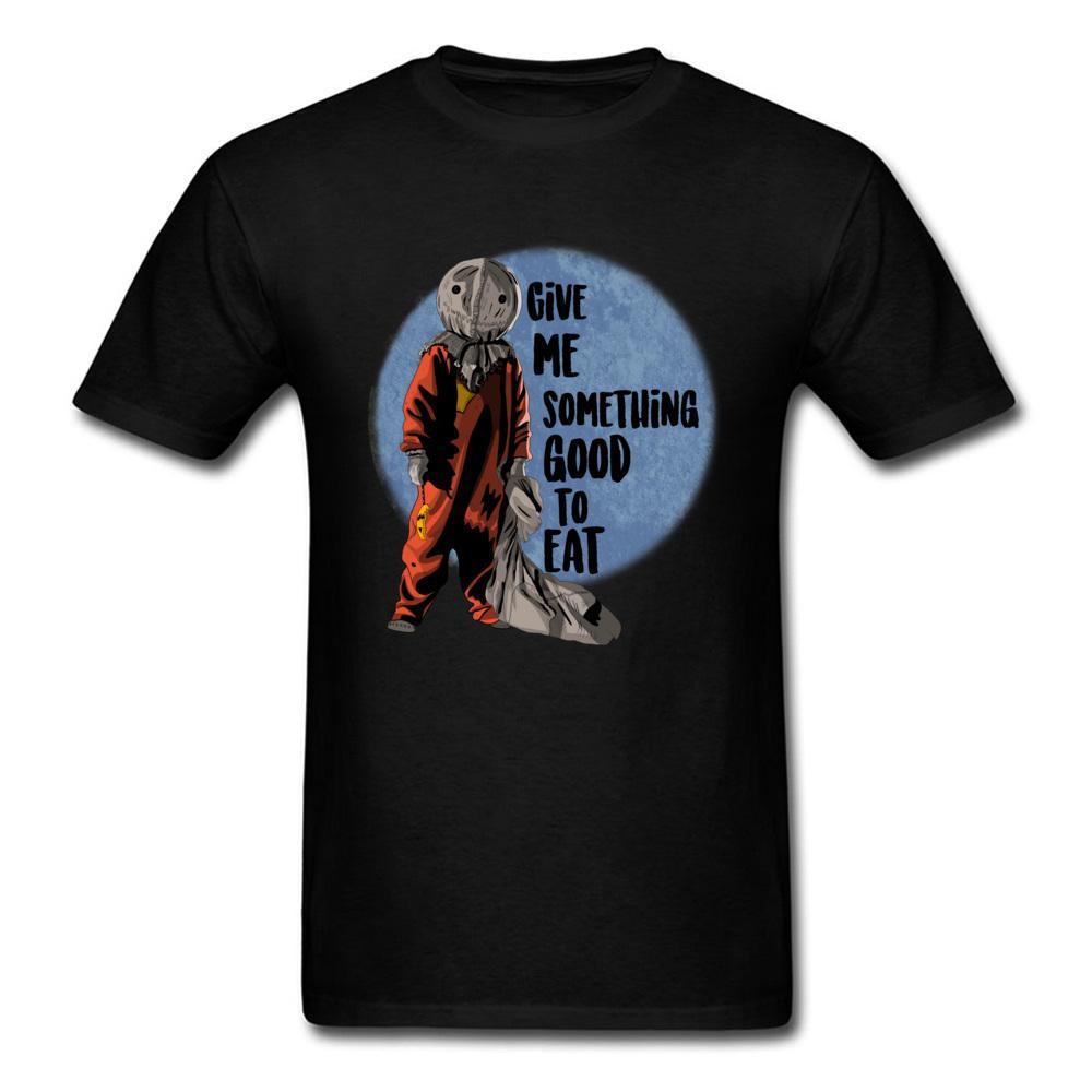 Кошелёк или жизнь футболки Хэллоуин Футболка Мужчины Tshirt Horror черные одежды тыквенная голова Monter Топы Тис ситец Ткань