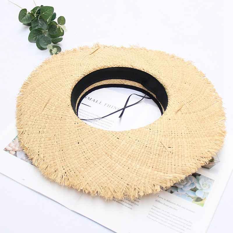 MYZOPER 2020 Новый Широкий Брим Складная Повседневный Tide Соломенная шляпка корейской версии лето Женщины Слейте Top Hat Cap Бич