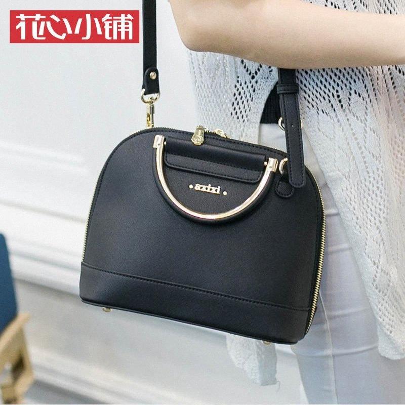 A tracolla in pelle Womens tracolla Shell sacchetto delle donne borsa di elaborazione di modo sveglio di piccola alta qualità 1SBD #