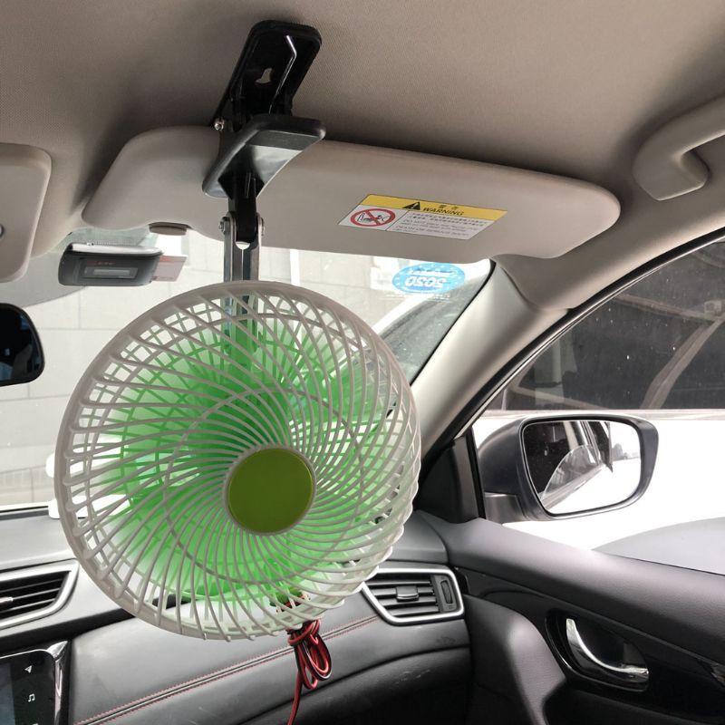 12V SUV Car Stepless velocidade Air Cooling Fan Automobile Veículo balanço Clipe Fan Y3ND