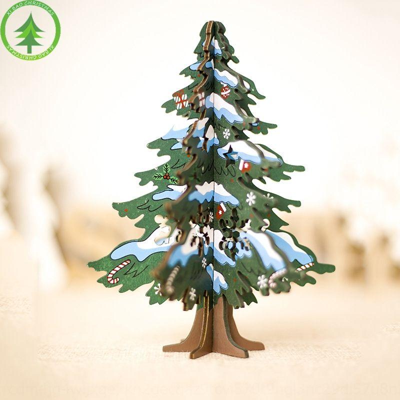 Новое поколение S окрашены елки стола деревянного декоративное decorationPainted украшение лоскутного мини украшение рождественской елки украшение NSNe7