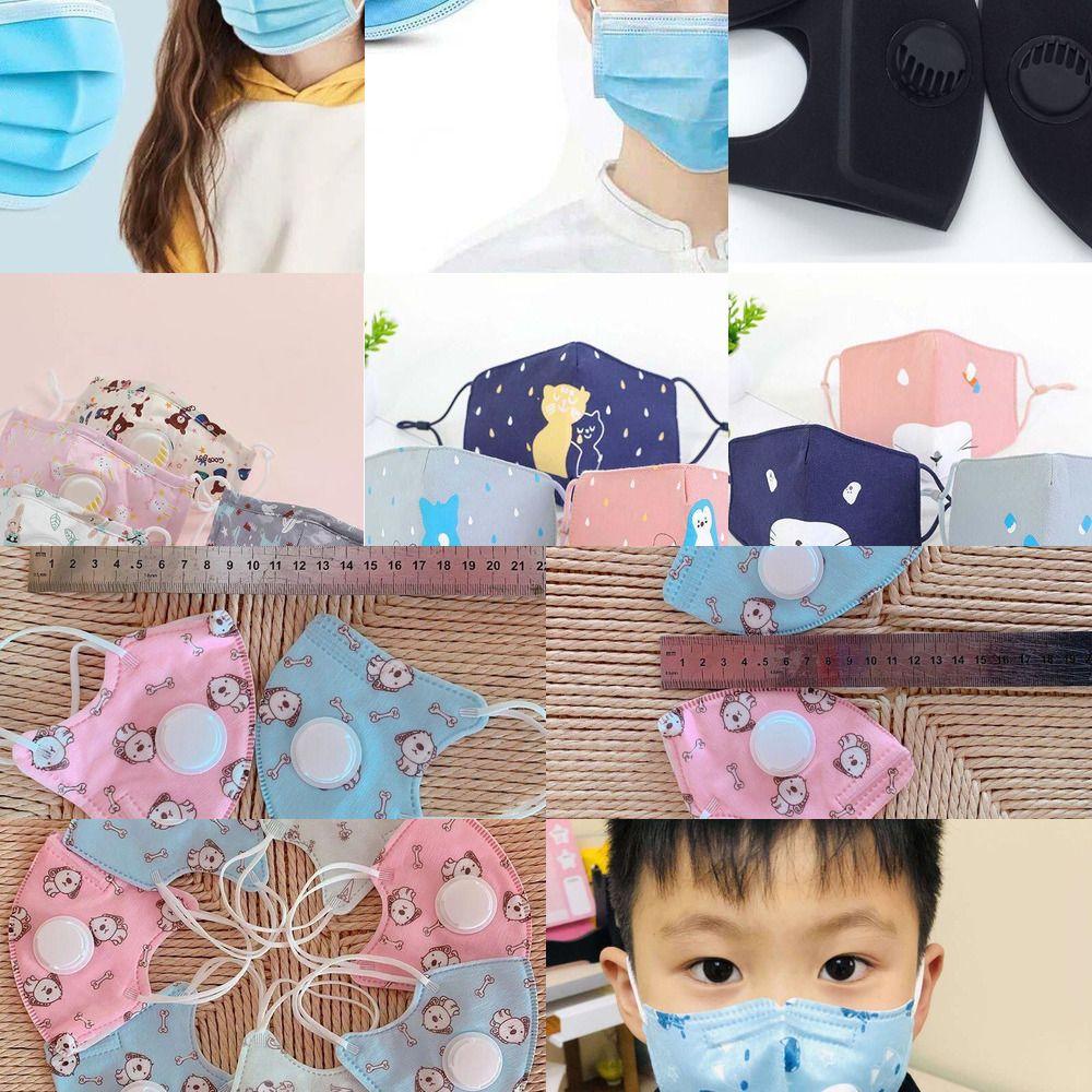Маска клапана с Fashion Kids Дыхательные Anti-дымовую Face Многоразовый моющийся Пыле Больше Sa Ледо