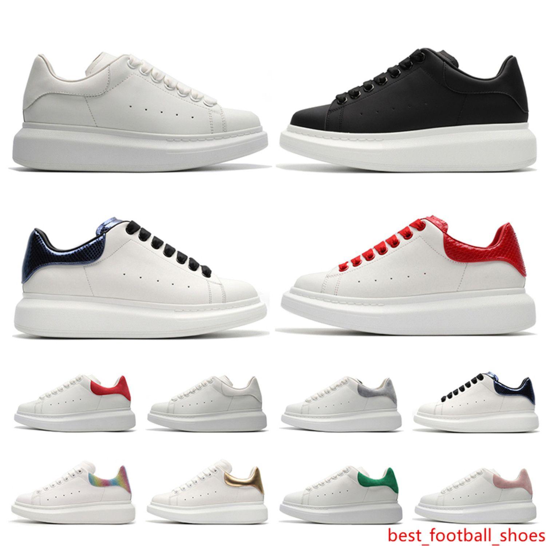 De alta calidad del fashional Besigner 2019 zapatilla de deporte casual del hombre zapatos de mujer rosas blancas tamaño de cuero negro 36-44
