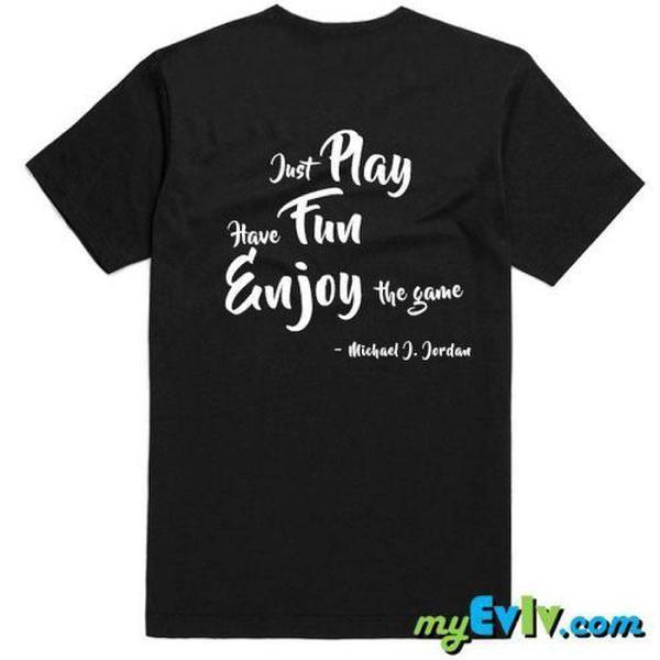 2020 Noir / blanc Fun Play Enjoy T-shirt Homme de haute qualité Hauts Breathanle Casual hommes T-shirts
