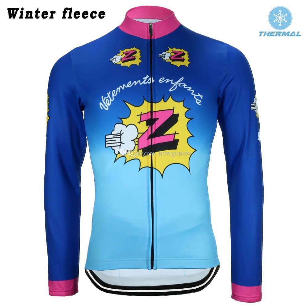 세대 Z는 고전적인 자전거 저지 프로 팀은 남자는 긴 소매 도로 경주 자전거 마모 의류 가을 얇은 / 겨울 양털 자전거 옷을 복고풍