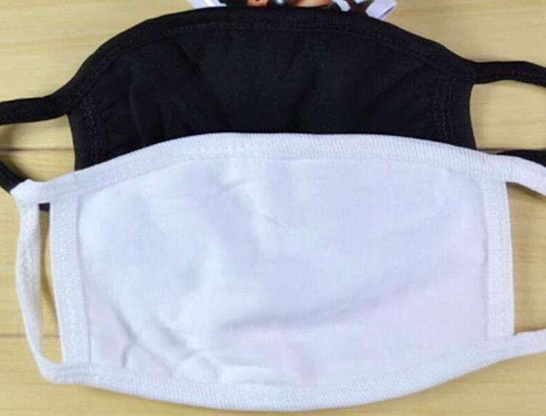 100pcs Anti-Staub-Baumwolle Mund Gesichtsmaske Unisex Mann eine Frau Radfahren Tragen Schwarze Art und Weise Baumwolle Masken gute Qualität