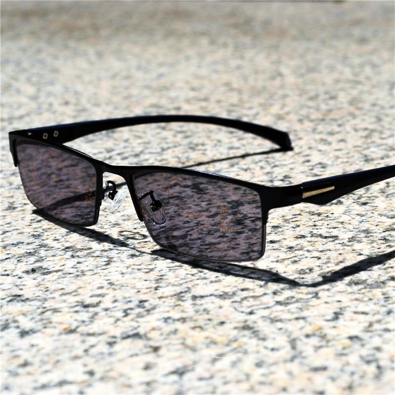 Square многоочаговых Считыватель См Ближних и Дальних Чтение очки бифокальные Presbyopia Мужчины очки для чтения FML