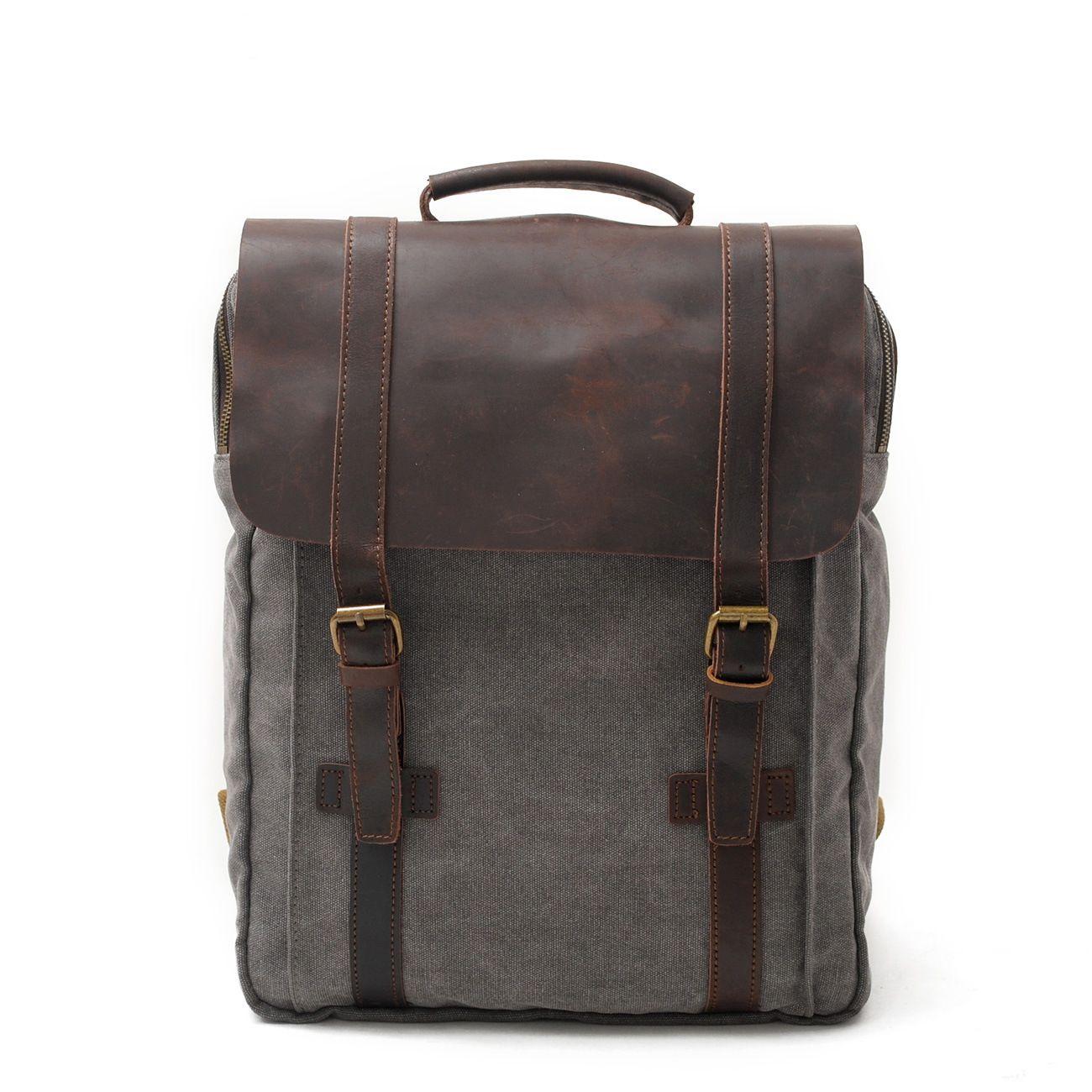أعلى جودة مصمم الرجعية رجل قماش حقيبة جلد طبيعي عارضة رجل كبير السفر مدرسة طالب حقيبة الكمبيوتر حقائب الظهر