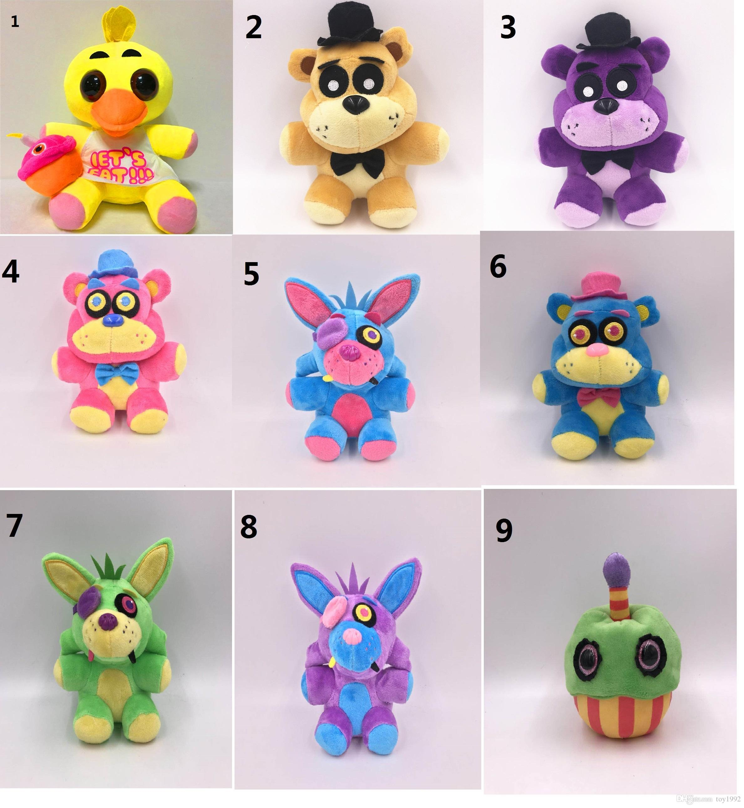 New 18cm-25cm Five Nights at Freddy's cute little bear midnight harem wall hanging plush toy decoration children's toys gifts 66