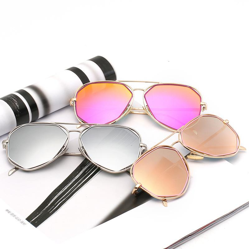 2020 Новый стиль мужчин и женщин в Versatile Солнцезащитные очки Мода нерегулярные Персонализированные Женские UV400 Солнцезащитные очки
