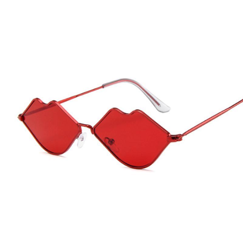 Love Heart Shape Солнцезащитные очки Женщины Rimless Рамка Оттенок Clear Lens Красочные ВС Очки Женский Красный Розовый Желтый Оттенки Путешествия