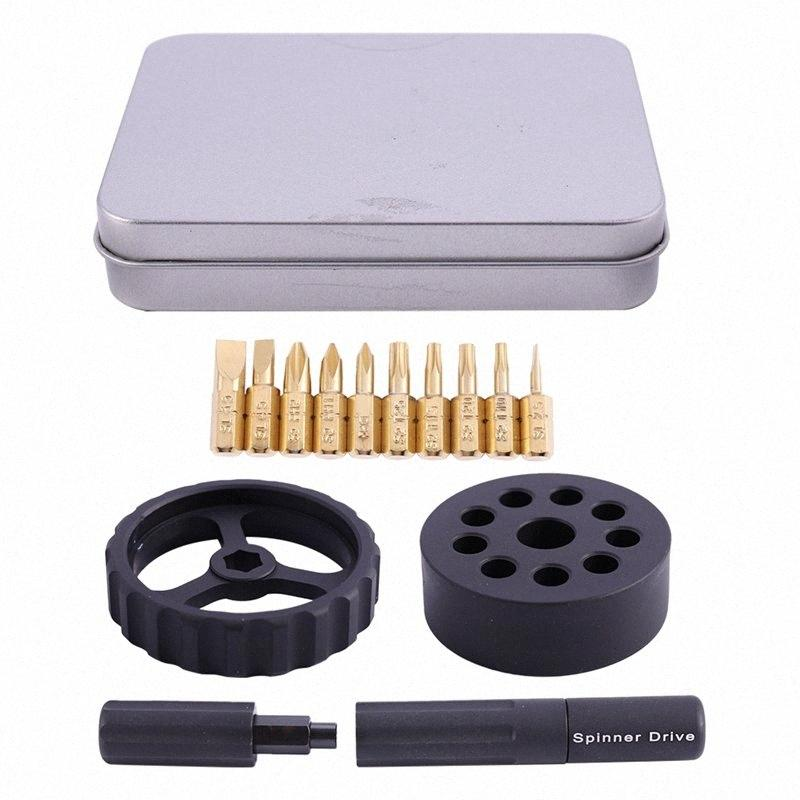Preto Multi-função prática Repair chave de fenda Mini Inteligente Precision chave de fenda ferramenta Spinner unidade bAv2 #