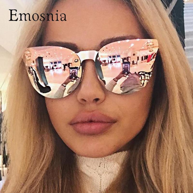 Emosnia, rosa teschi d'oro, di grandi dimensioni per le donne, progettista di marca con la grande struttura, gli occhiali da sole donne