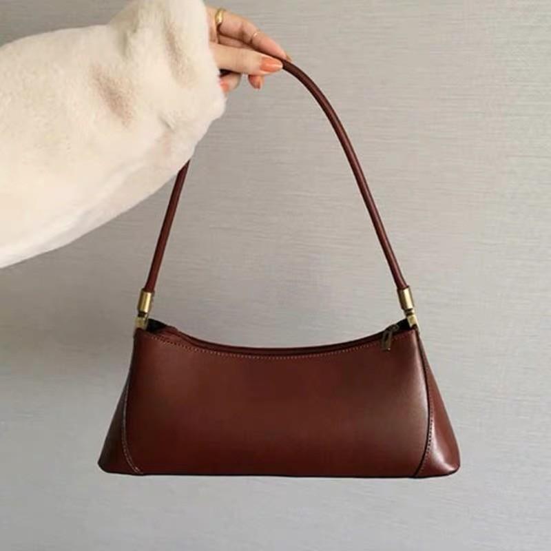 Neue 2020 Tasche Solide Schulter Handtasche Frauen Mode Persönlichkeit Wild Baguette PU Feminina Modeform Handtasche Leder Bolsa TNKCV