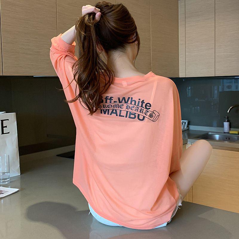 2020 Новый стиль лето вскользь Airable рубашки Сыпучего Crew Ne Perspective с длинным рукавом Тонкой дышащая Солнцезащитная ткань H