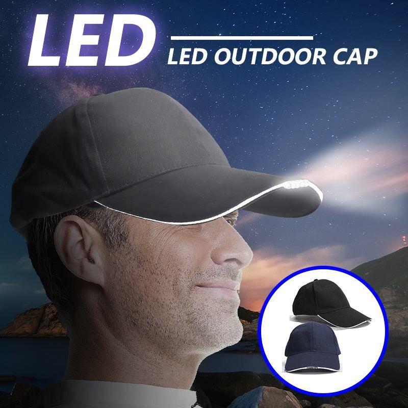 Ajustable de la bicicleta 5 LED Faro Cap con pilas Sombrero con luz LED cabeza para la pesca gorra de béisbol Correr