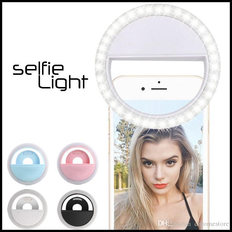 مصباح RK12 قابلة للشحن العالمي LED أضواء الصور الشخصية للحلقة ضوء فلاش الصور الشخصية للحلقة الإضاءة كاميرا التصوير للحصول على سامسونج فون