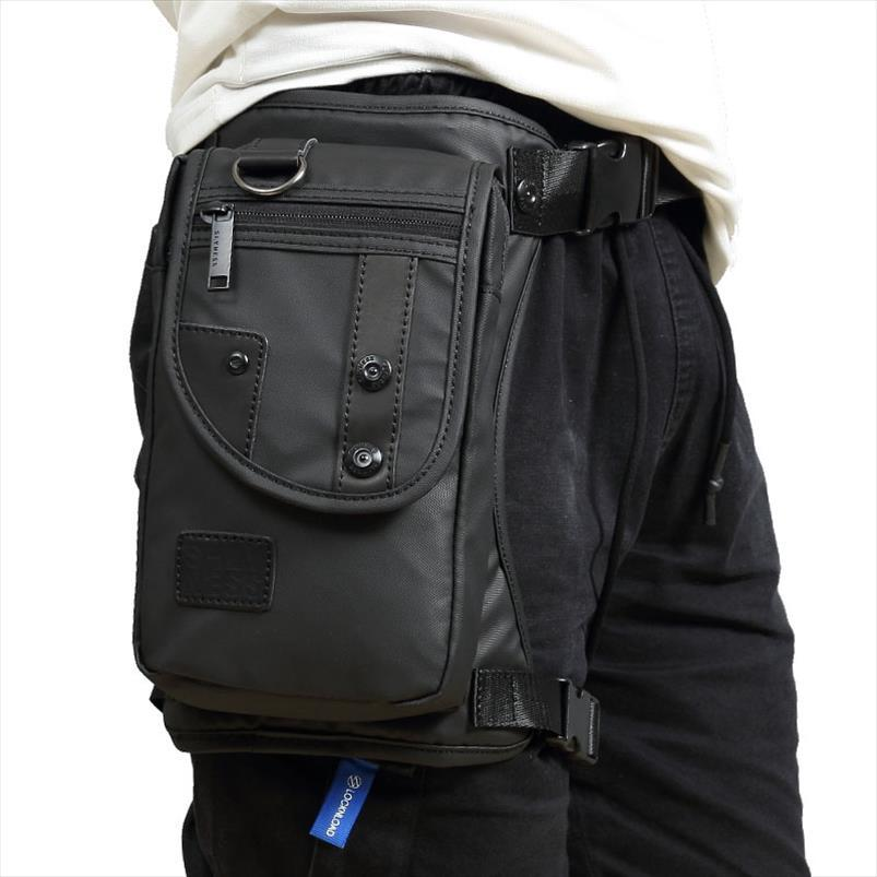 Men Waterproof Oxford Canvas Nylon Drop Waist Leg Bag Bum Hip Belt Purse Fanny Pack Cross Body Motorcycle Travel Rider Bags