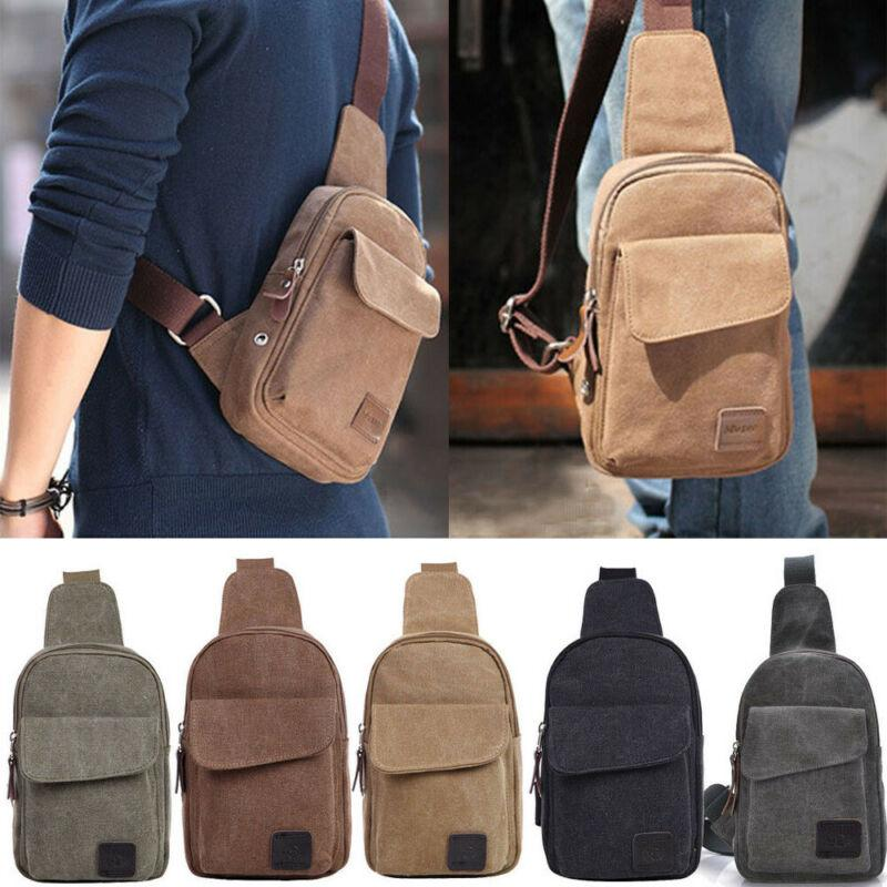 Hot Sale Men Small Chest Bag Pack Travel Sport Sling Backpack Crossbody Bags Outdoor Cycling Military Canvas Satchel