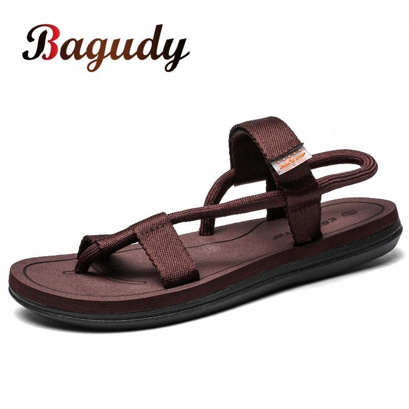 Estate Uomini Sandali Luce Nuova gladiatore scarpe pantofole maschio respirabile pistoni della spiaggia Sport acquatico Infradito Men Casual Shoes 46 7YR2 #