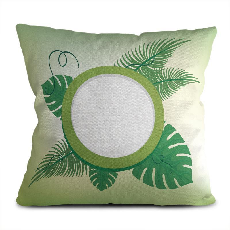 Nordic ropa de la cubierta verde almohada pequeña hoja de la planta fresca decoración del hogar hogar del sofá cojín funda de almohada de la sala de estar