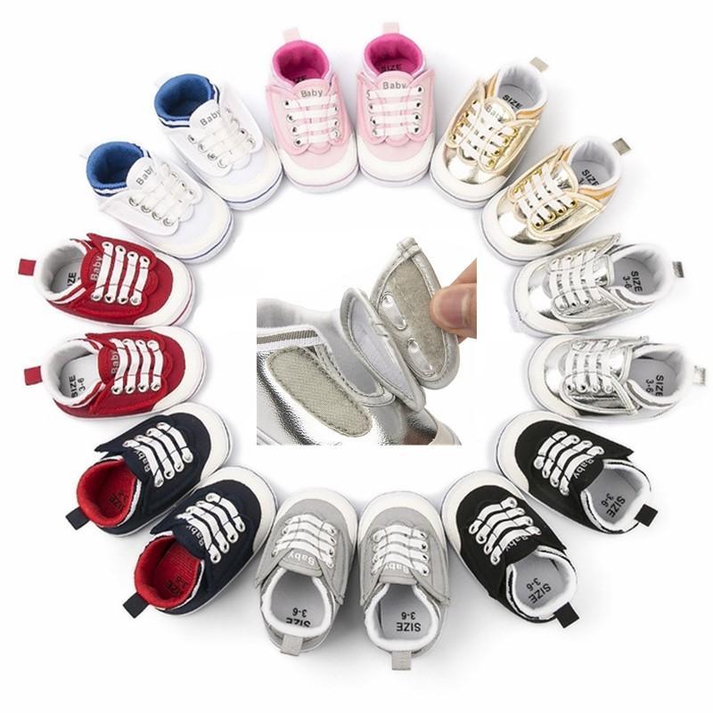 2020 أحذية قماش الطفل الوليد بنين بنات الأولى مشوا طفل الرضيع لينة أسفل المضادة للانزلاق أحذية Prewalker حذاء رياضة
