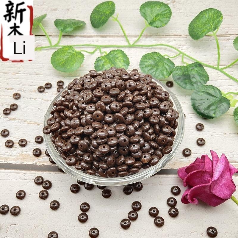 9d4yW imitación shell acrílico imitación natural de volver tibetano Loach coco partición de coco partición grano rebanada